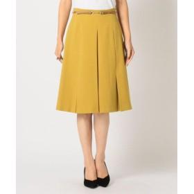 (MEW'S REFINED CLOTHES/ミューズ リファインド クローズ)ビットボックスフレアスカート/レディース マスタード