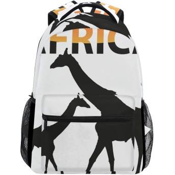 バックパック旅行アフリカキリンスクールブックバッグショルダーラップトップデイパックカレッジバッグ用レディースメンズボーイズガールズ