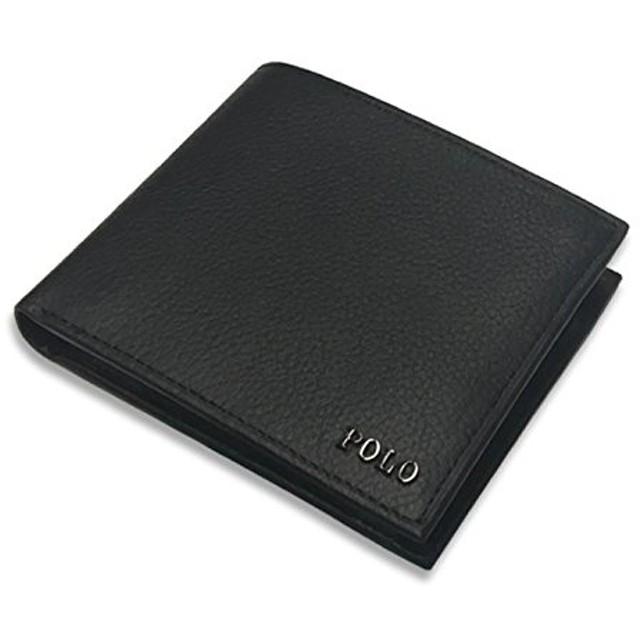 ポロ ラルフローレン(POLO RALPH LAUREN) 2つ折り財布 405656388 001 メタル プラーク ブラック 黒 [並行輸入品]