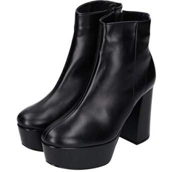 [エスペランサ] NEW 19/AW ボリュームソールショートブーツ【ブラック/US17LL(25.0cm)】