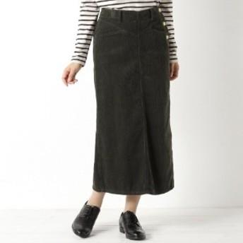 大人の女性のためのコーデュロイタイトスカート