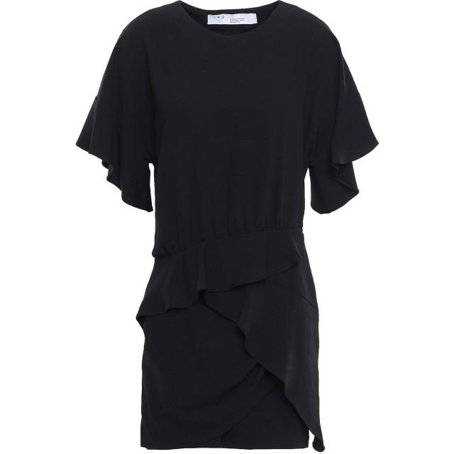 《セール開催中》IRO レディース ミニワンピース&ドレス ブラック 36 トリアセテート 60% / ポリエステル 40%