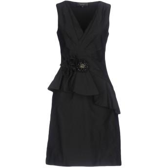 《セール開催中》ANNA RACHELE BLACK LABEL レディース ミニワンピース&ドレス ブラック 42 100% ポリエステル