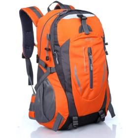 防水屋外のクライミングバッグ男性のショルダーバッグトラベルスポーツバッグ大容量,オレンジ