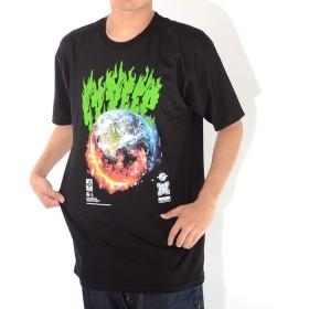10DEEP テンディープ Tシャツ 半袖 アーチフレイムロゴ アースグラフィック (192TD4318) XL BLACK