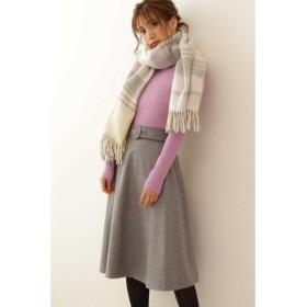 (PROPORTION BODY DRESSING/プロポーション ボディドレッシング)◆サッシュカラーフレアースカート/レディース トップグレー1