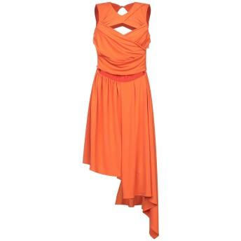 《セール開催中》MARCO BOLOGNA レディース ミニワンピース&ドレス オレンジ 42 ポリエステル 95% / ポリウレタン 5%