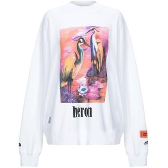 《セール開催中》HERON PRESTON レディース スウェットシャツ ホワイト XXS コットン 100% / ポリウレタン / ポリエステル