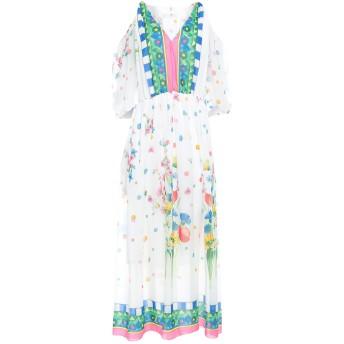 《セール開催中》BLUGIRL BLUMARINE レディース ロングワンピース&ドレス ホワイト 38 ポリエステル 100%