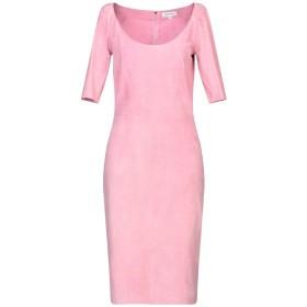 《セール開催中》JITROIS レディース ひざ丈ワンピース ピンク 40 羊革(ラムスキン) 100%