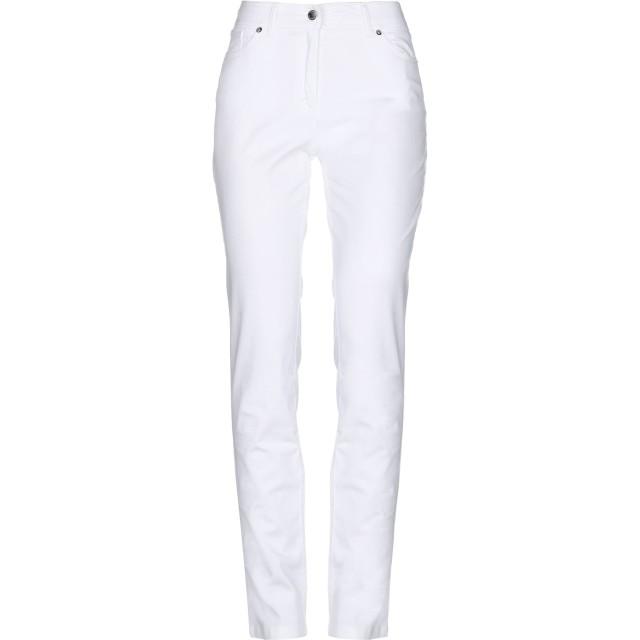 《セール開催中》CARACTRE レディース パンツ ホワイト 44 コットン 99% / ポリウレタン 1%