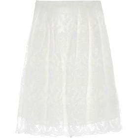 《期間限定セール開催中!》DARLING London レディース 7分丈スカート ホワイト 12 ポリエステル 100%