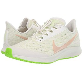 [ナイキ] レディーススニーカー・靴・シューズ Air Zoom Pegasus 36 FlyEase Phantom/Bio Beige/Barely Volt (24cm) B - Medium [並行輸入品]