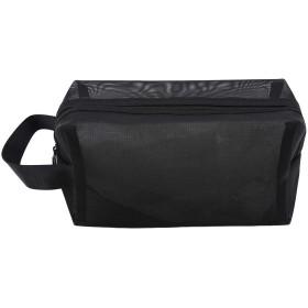 KLUMA トラベルポーチ メッシュ 化粧ポーチ トイレタリーバッグ 洗面用具入れ 旅行 出張 軽量 便利 長さ幅高さ21912cm