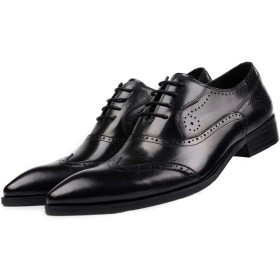 [ONE MAX] ビジネスシューズ メンズ 牛革 内羽根 ウィングチップ 革靴 フォーマル ビジネス カジュアル レースアップ シューズ 高級靴