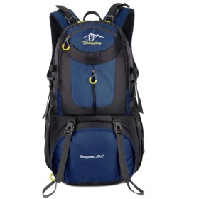 登山バッグ大容量アウトドアスポーツバッグハイキングバックパック,紺,40L