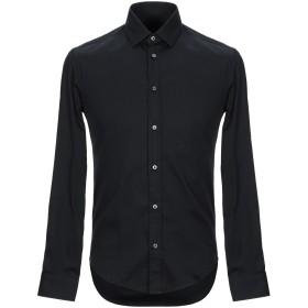 《期間限定セール開催中!》BRIAN DALES メンズ シャツ ブラック 38 コットン 80% / ナイロン 15% / ポリウレタン 5%