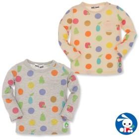 ベビー服 女の子 はらぺこあおむし カラフル水玉 長袖Tシャツ ベージュ/グレー 80cm・90cm・95cm 赤ちゃん ベビー 新生児 乳児 幼児