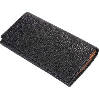 [レガーレ] スティングレイ 長財布 メンズ 小銭入れ有り スリム長財布 (ブラウン)