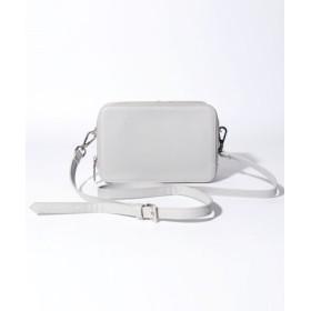(MONICA/モニカ)お財布機能付きボックスショルダー/レディース グレイ