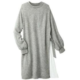 ジーラ バイ リュリュ(ファッション)(GeeRA (fashion))/異素材プリーツ切替チュニック