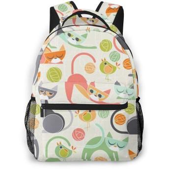 バックパック やんちゃだ猫 Pcリュック ビジネスリュック バッグ 防水バックパック 多機能 通学 出張 旅行用デイパック