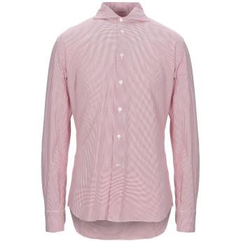 《セール開催中》BRANCACCIO メンズ シャツ レッド L コットン 74% / ナイロン 20% / ポリウレタン 6%