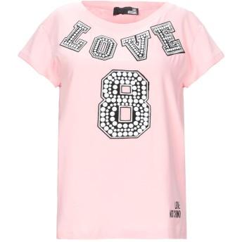 《セール開催中》LOVE MOSCHINO レディース T シャツ ピンク 38 コットン 94% / ポリウレタン 6%