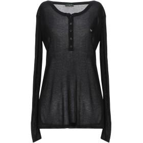 《期間限定セール開催中!》FRED PERRY レディース T シャツ ブラック XL レーヨン 100%