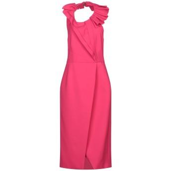 《セール開催中》CAPUCCI レディース 7分丈ワンピース・ドレス フューシャ 40 ポリエステル 92% / ポリウレタン 8%
