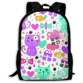 リュック おもしろい猫 バックパック ラップトップバッグ 軽量 防水 大容量 子供 アウトドア 旅行 学生 通学 通勤 出張 スクール ビジネス 15.6インチPC対応