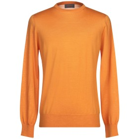 《セール開催中》ASSAI メンズ プルオーバー オレンジ 50 ウール 100%