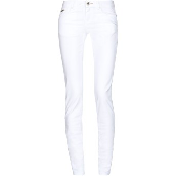 《セール開催中》EAN 13 レディース パンツ ホワイト 38 コットン 98% / ポリウレタン 2%