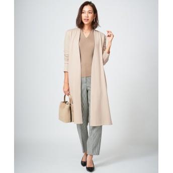 【オンワード】 ICB L(アイシービー 大きいサイズ) Wool Milled Jersey ライトアウター ベージュ XL レディース 【送料無料】