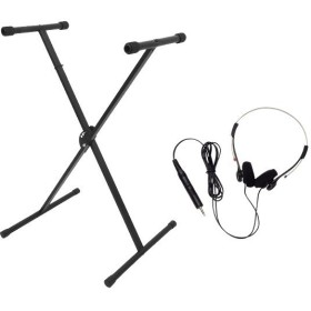 (ヘッドホン付き)キョーリツ KBS-S(シングル)組み立て式 X字型 シングルキーボードスタンド(メール便不可)(ラッピング不可)