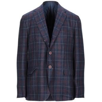 《セール開催中》SARTORIO メンズ テーラードジャケット ブルー 54 ウール 69% / シルク 16% / 麻 15%