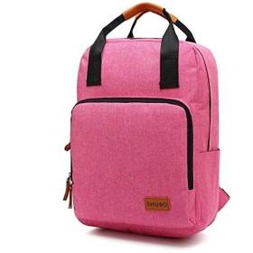 女性と男性のバックパック大学生ビジネスコンピュータバッグ高校生バッグ大容量旅行バックパック SLhouse (Color : Pink)
