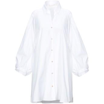 《セール開催中》XACUS レディース シャツ ホワイト 42 コットン 78% / ナイロン 18% / ポリウレタン 4%