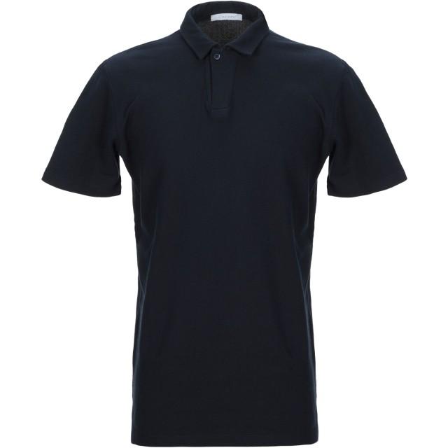 《セール開催中》CRUCIANI メンズ ポロシャツ ダークブルー 46 コットン 100%