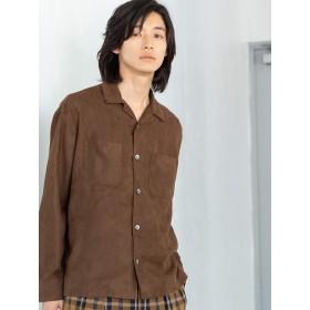 (コーエン) COEN スエードタッチオープンカラーシャツ 75106049111 2550 MD.BROWN(25) MEDIUM