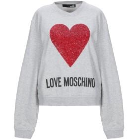 《セール開催中》LOVE MOSCHINO レディース スウェットシャツ グレー 38 コットン 92% / ポリウレタン 8%