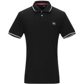 《セール開催中》LOVE MOSCHINO メンズ ポロシャツ ブラック XS コットン 95% / ポリウレタン 5% / ポリエステル