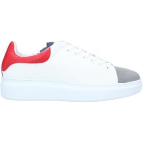 《期間限定セール開催中!》QUATTROBARRADODICI メンズ スニーカー&テニスシューズ(ローカット) ホワイト 41 革 / 紡績繊維