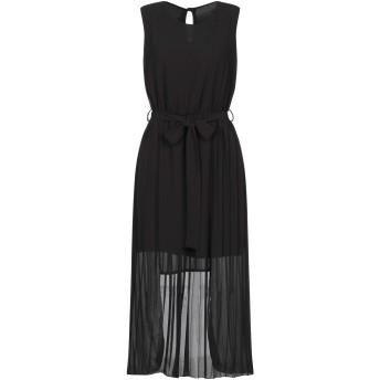 《セール開催中》BERNA レディース ミニワンピース&ドレス ブラック XS ポリエステル 100% / レーヨン / ポリウレタン