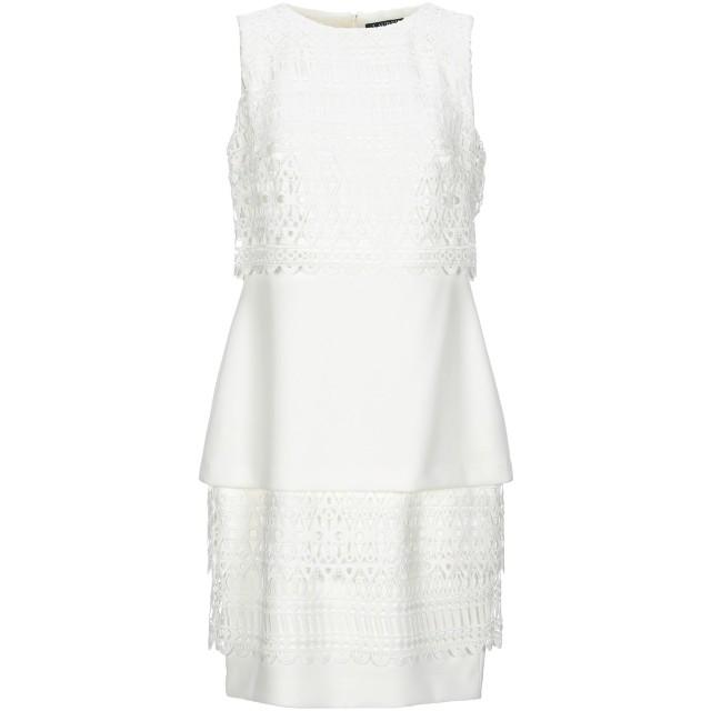 《セール開催中》LAUREN RALPH LAUREN レディース ミニワンピース&ドレス ホワイト 4 ポリエステル 94% / ポリウレタン 6%