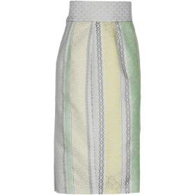 《セール開催中》CRISTINA ROCCA レディース 7分丈スカート ライトグリーン 40 コットン 80% / ナイロン 20%