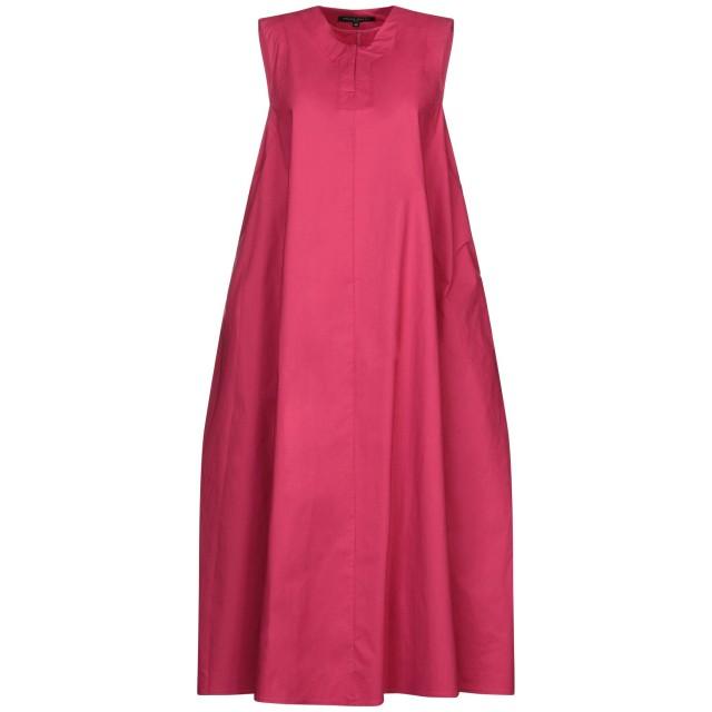 《セール開催中》BRIAN DALES レディース 7分丈ワンピース・ドレス フューシャ 38 コットン 97% / ポリウレタン 3%