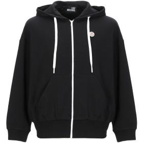 《期間限定セール開催中!》LOVE MOSCHINO メンズ スウェットシャツ ブラック S コットン 100%