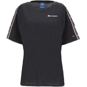 《セール開催中》CHAMPION レディース T シャツ ブラック XS コットン 100%