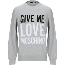 《セール開催中》LOVE MOSCHINO メンズ プルオーバー グレー S コットン 100%
